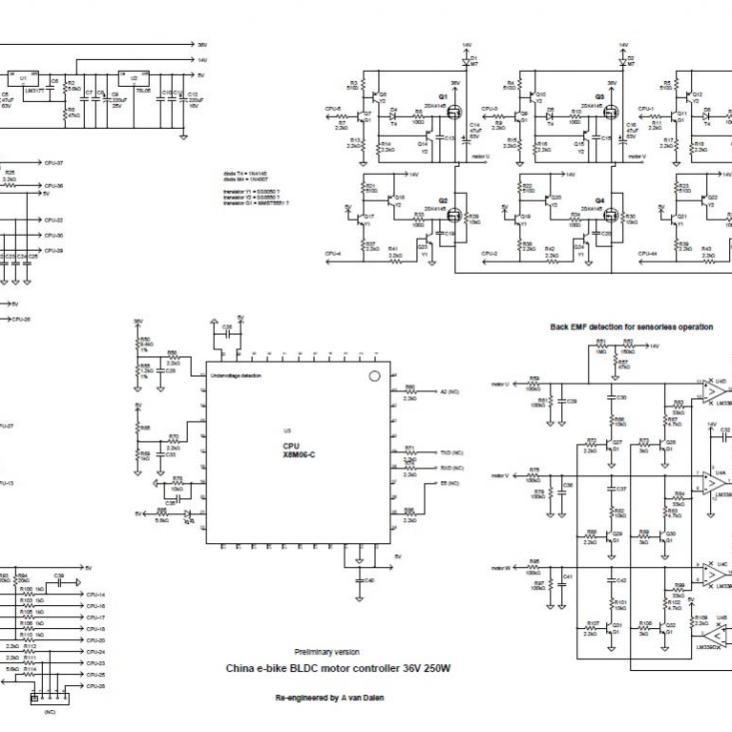 KU63-BLDC-motor-controller-36V-250W-circuit